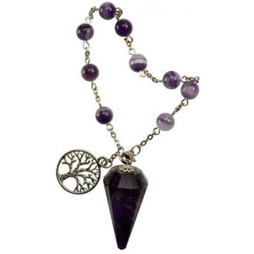 Amethyst Pendulum Bracelet