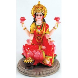 Laxmi On Lotus Statue 5""